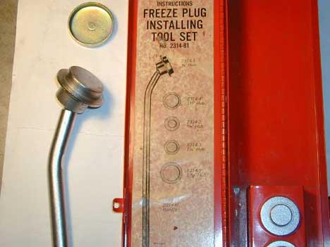 Attachment on Engine Freeze Plug Installation